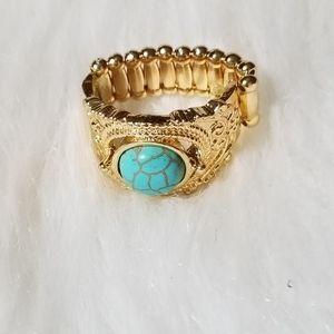 NWT Gold Light Blue Ring